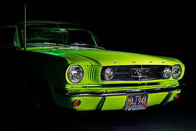 Poster featuring the photograph 1965 Ford Mustang by Jim Boardman