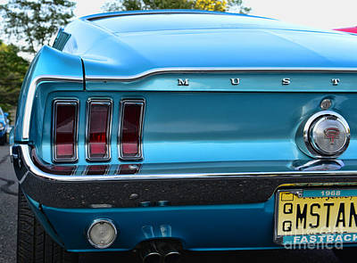 1968 Mustang Brake Light Poster by Paul Ward