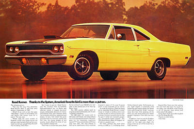 1970 Plymouth Road Runner Poster
