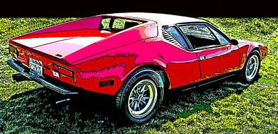 1970 's De Tomaso Pantera Poster