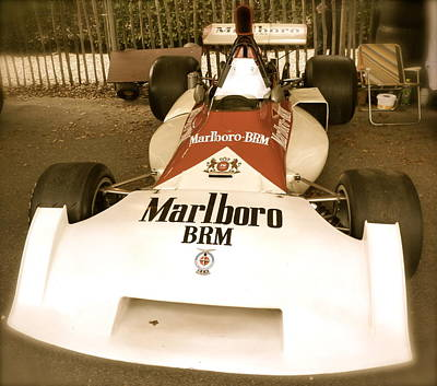 Poster featuring the photograph 1971 Brm P160 Formula 1 Grand Prix Car by John Colley