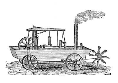 19th Century Amphibious Vehicle, Artwork Poster