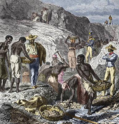 19th-century Diamond Mining, Brazil Poster