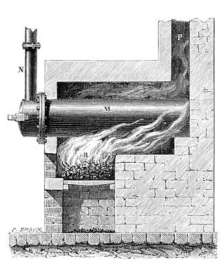 19th Century Furnace For Gas Lighting Poster by Library Of Congress