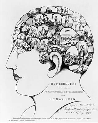 19th-century Phrenology Poster