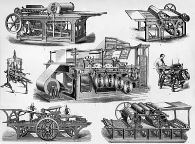 19th Century Printing Machines Poster by Sheila Terry
