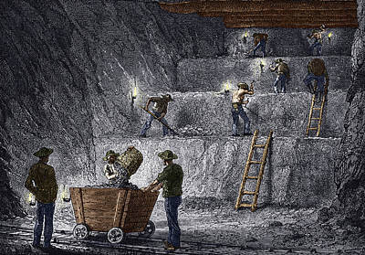 19th-century Step Mining, Prussia Poster by Sheila Terry