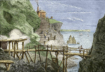 19th-century Tin Mine, Cornwall Poster by Sheila Terry