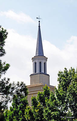 Poster featuring the photograph 1st Presbyterian Steeple by Kay Lovingood