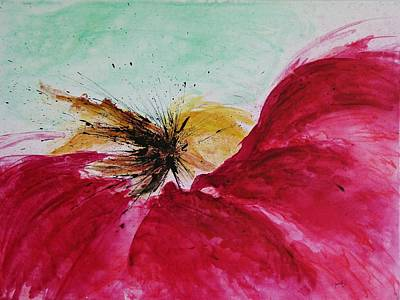 Poster featuring the painting Abstract Flower  by Ismeta Gruenwald