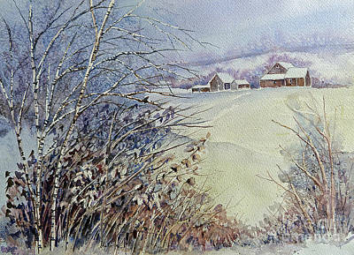 Poster featuring the painting After The Snowfall by Louise Peardon