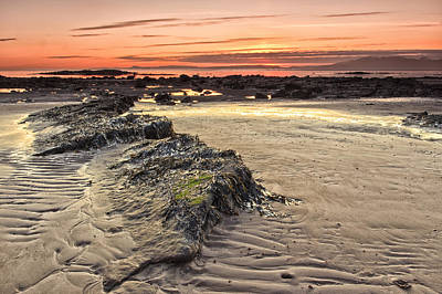 Ardrossan Sunset Poster by Fiona Messenger
