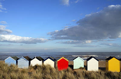 Poster featuring the photograph Beach Huts by David Harding