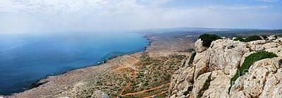 Beautiful View On Mediterranean Sea From Cape Gkreko In Cyprus Poster by Oleksiy Maksymenko