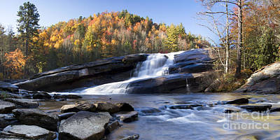 Bridal Veil Falls In Dupont State Park Nc Poster by Dustin K Ryan