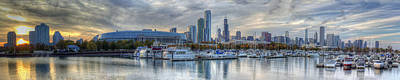 Chicago From Burnham Harbor Poster by Twenty Two North Photography