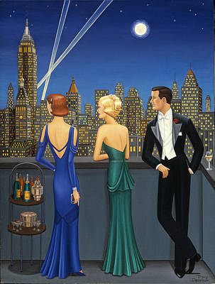 City Lights Poster by Tracy Dennison