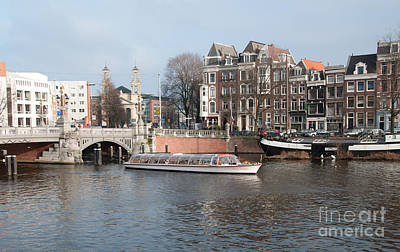 City Scenes From Amsterdam Poster by Carol Ailles