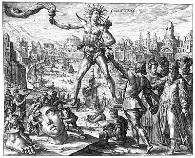 Colossus Of Rhodes Poster by Granger