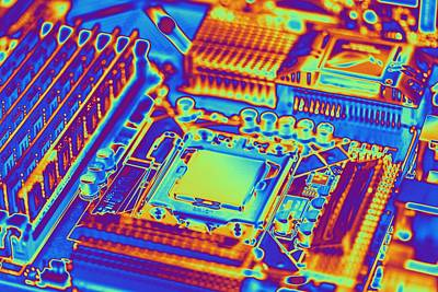 Computer Motherboard With Core I7 Cpu Poster
