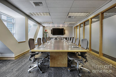 Conference Table And Chairs Poster