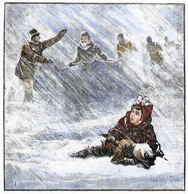 Dakota Blizzard, 1888 Poster