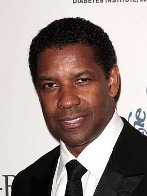 Denzel Washington At Arrivals For The Poster by Everett