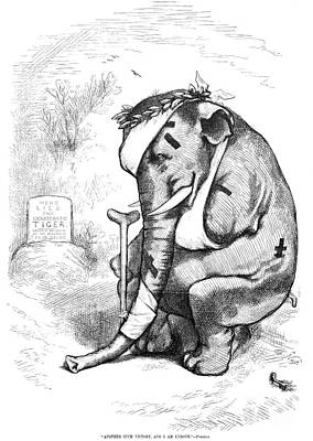 Election Cartoon, 1877 Poster by Granger