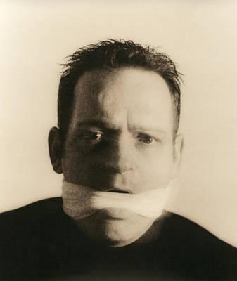 Gagged Man Poster by Cristina Pedrazzini