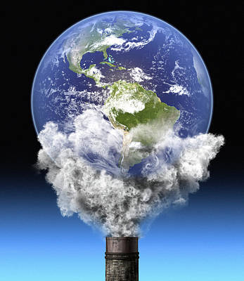 Global Warming, Conceptual Image Poster by Roger Harris