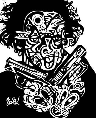 2 Guns Up Poster by Kamoni Khem