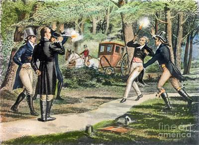 Hamilton-burr Duel, 1804 Poster by Granger