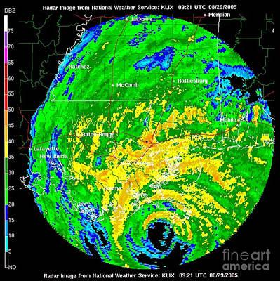 Hurricane Katrina, Wfo Radar, 2005 Poster by Science Source