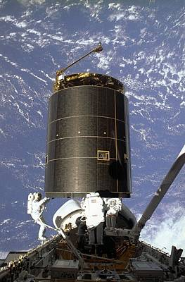 Intelsat Vi, A Communication Satellite Poster