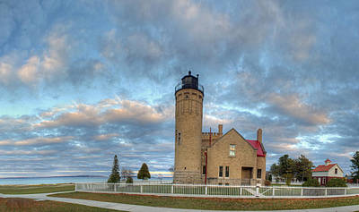 Lighthouse At Mackinac Poster by Twenty Two North Photography