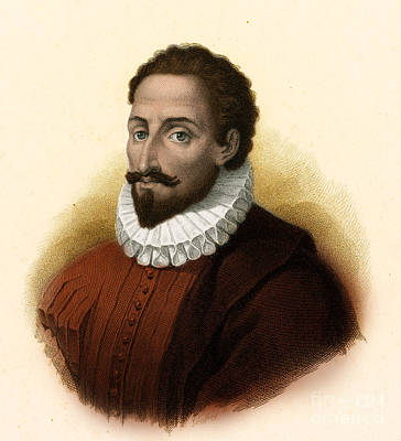 Miguel De Cervantes, Spanish Author Poster
