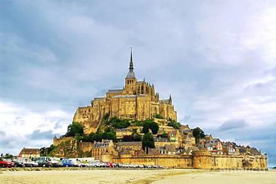 Mont Saint Michel Poster by Elena Elisseeva