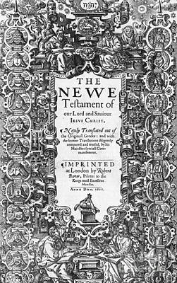 New Testament, King James Bible Poster