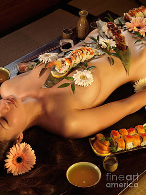 Nyotaimori Body Sushi Poster by Oleksiy Maksymenko