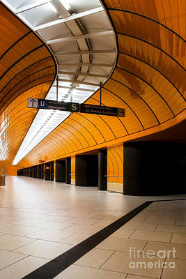 Orange Subway Station Poster