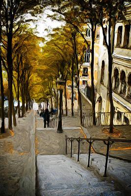 Paris Stairs Poster