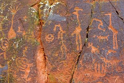 Petroglyphs Believed To Have Been Made Poster by Charles Kogod