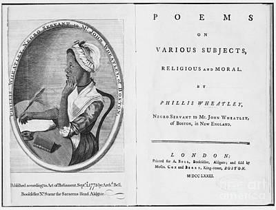 Phillis Wheatley, African-american Poet Poster