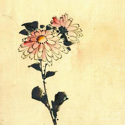 2 Pink Flowers 1840 Poster by Padre Art