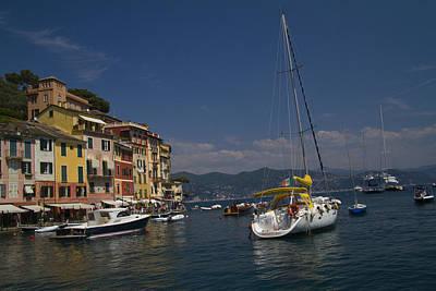 Portofino In The Italian Riviera In Liguria Italy Poster by David Smith