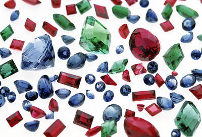 Precious Gemstones Poster by Lawrence Lawry