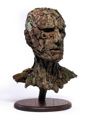 Revered A Natural Portrait Bust Sculpture By Adam Long Poster