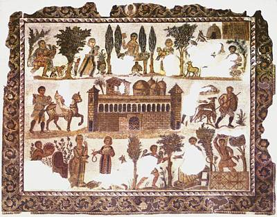 Roman Mosaic Poster