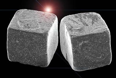 2 Salt Crystals Poster by Sheri  Neva