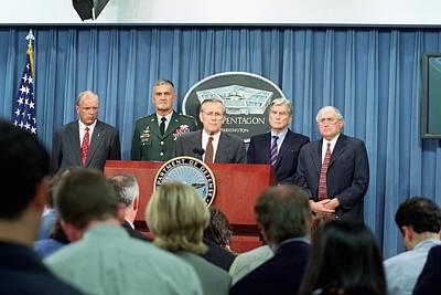 Secretary Of Defense Donald H. Rumsfeld Poster